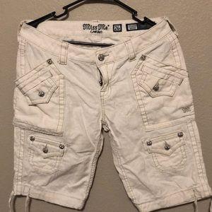Miss me women's Cargo Bermuda Shorts size 26